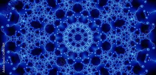 blue glowing fractal (24e)