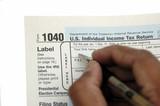 filing tax return poster
