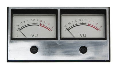 two analogue meters