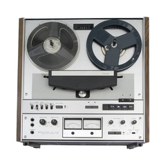 old reel-to-reel tape deck