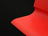 red plastic wavy background poster