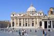 Leinwandbild Motiv st peter- petersdom aus rom
