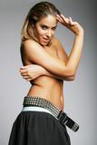 sexy topless hispanic woman poster