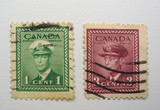 canadian used stamps poster