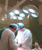 surgical team: enduring work of surgeons and nurse poster