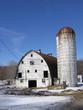 barn with silo