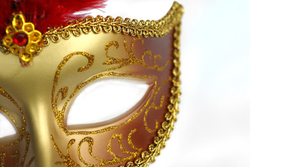 golden party mask