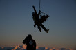 Leinwanddruck Bild - helicopter hoist