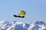 yellow jacket snowboard air poster