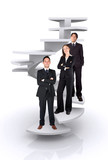 business team work - corporate ladder poster