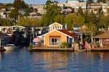 lake union boat houses poster