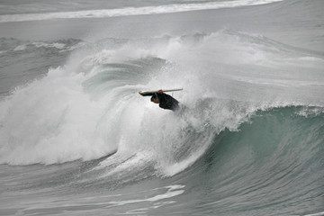 bodyboarder in the wave