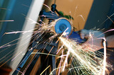 angle grinder in use poster