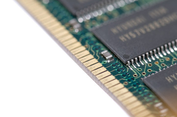 close up ram memory