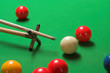 snooker shot on a rest