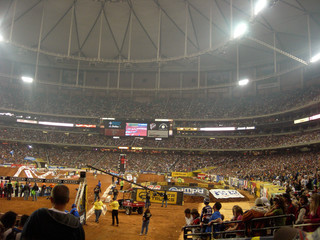 supercross motorcycle racing at georgia dome
