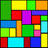 color rectangles poster