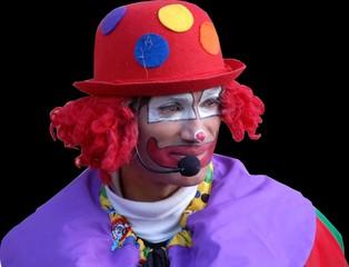 clown maqué  detouré fond noir