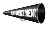 megaphone announcement poster
