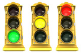 downtown stoplight 3 pack poster