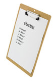 checklist on a clipboard poster
