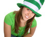 woman dressed for saint patricks day