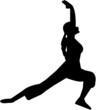 yoga silhouettes
