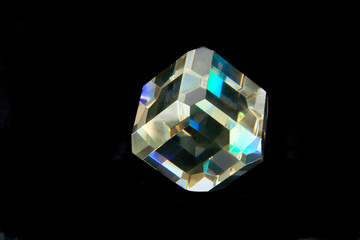 glass polyhedron isolated