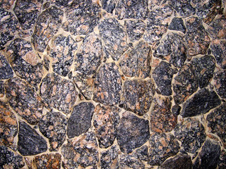 wall made of rocks