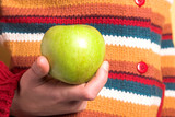 colorful sweater and green apple poster
