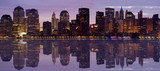 Fototapety early morning panorama of lower manhattan skyline