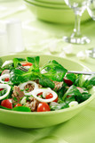 healthy food, salad with tunny and vegetable poster
