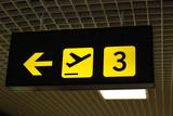 flughafen schild abflug airport sign departure poster