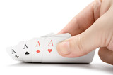 revealing four aces