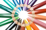 Fototapety circle of crayons