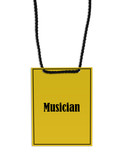 musician stage pass poster