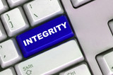 keyboard with word of integrity poster