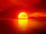 Fototapety scarlet sunset