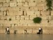 hommes priant devant le mur des lamentations