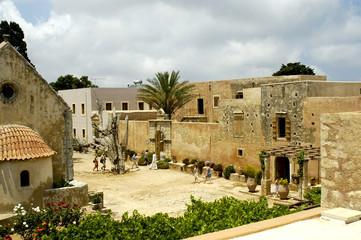 crete arkadi convent view