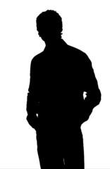 silhouette uomo