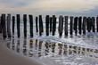 wave breakers on a dutch beach