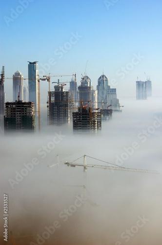 Canvas Dubai dubai in the fog