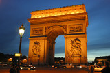 arc de triomphe by night poster