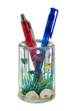 two pens in container (like a aquarium) poster
