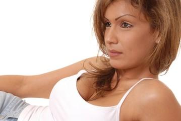 lovely brunette woman 2