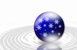 blaue schneekugel - blue snowball poster