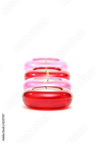 Leinwanddruck Bild lit candles