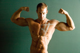 sexy muscular body builder poster
