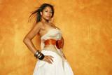 beautiful multiracial woman poster